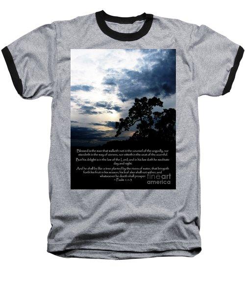 The Bible Psalm 1 Baseball T-Shirt
