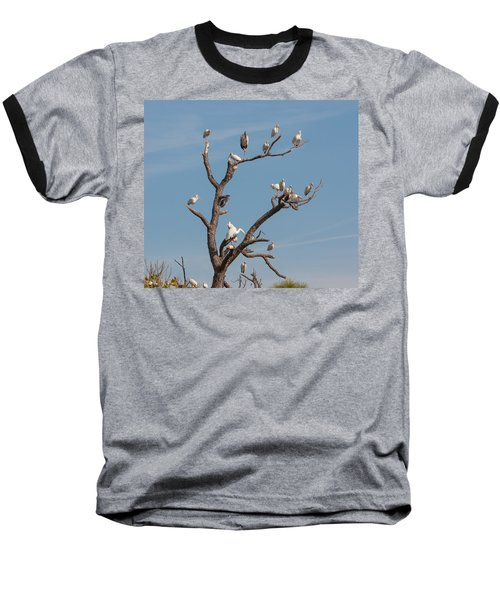 Baseball T-Shirt featuring the photograph The Bird Tree by John M Bailey
