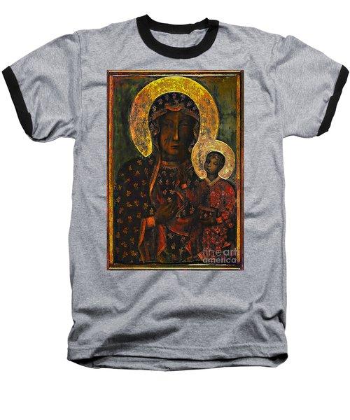 The Black Madonna Baseball T-Shirt by Andrzej Szczerski