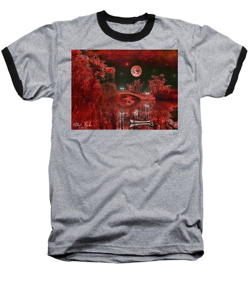 Baseball T-Shirt featuring the photograph The Blood Moon by Michael Rucker