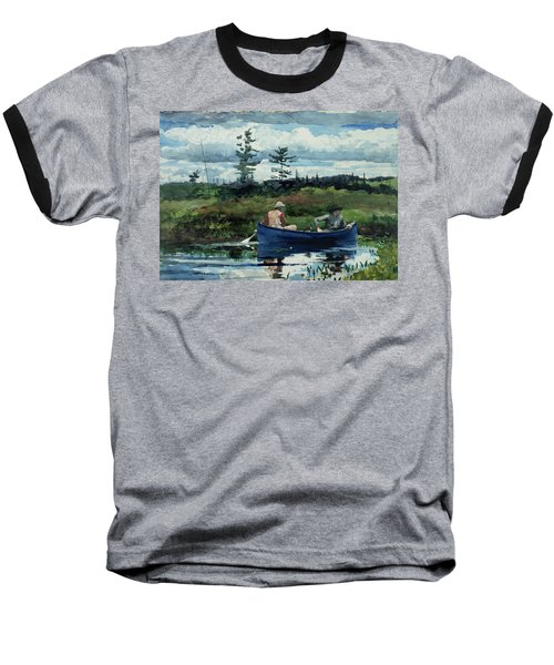 The Blue Boat Baseball T-Shirt by Winslow Homer