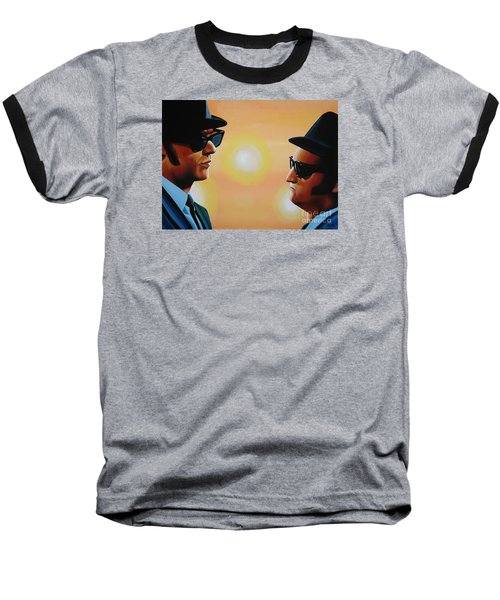 The Blues Brothers Baseball T-Shirt by Paul Meijering