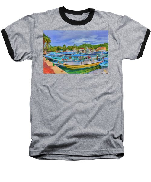 The Boats Of Hautulco Baseball T-Shirt