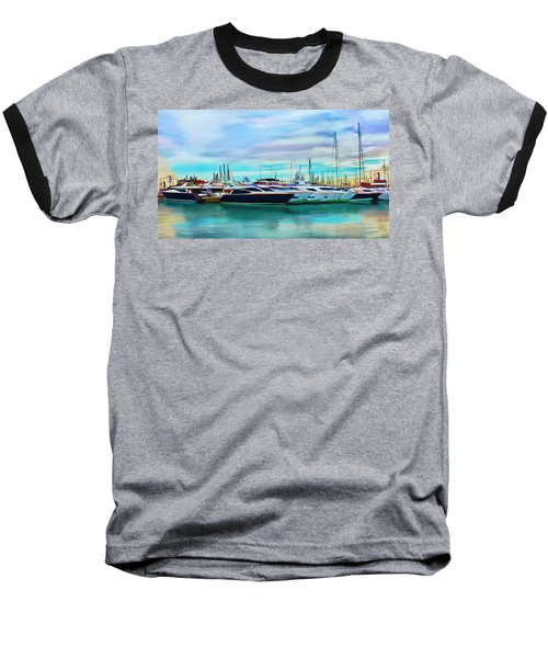 The Boats Of Malaga Spain Baseball T-Shirt