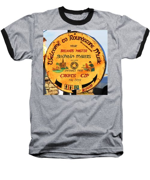The Bodhran Makers Baseball T-Shirt by Charlie and Norma Brock