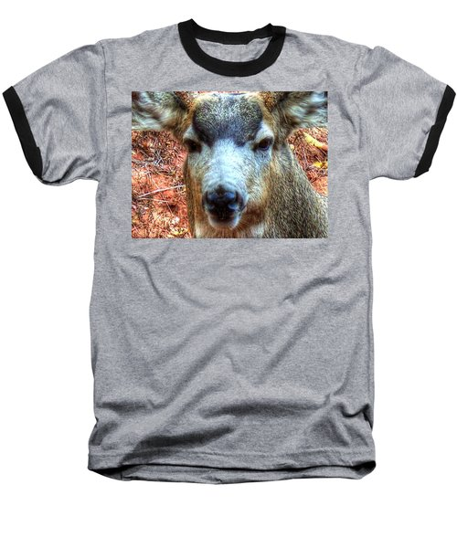 Baseball T-Shirt featuring the photograph The Buck II by Lanita Williams