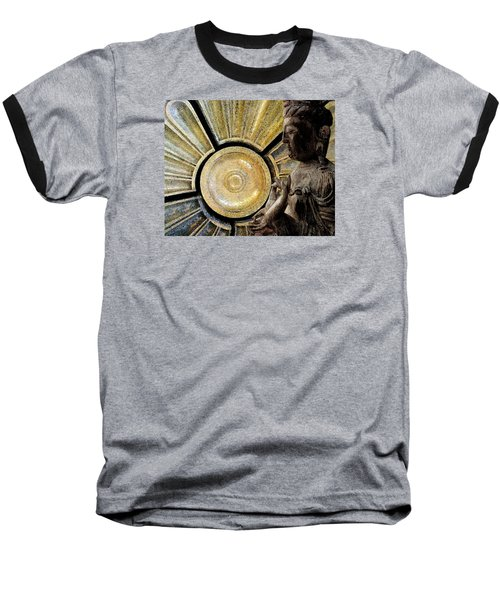 Baseball T-Shirt featuring the photograph the Buddha  c2014  Paul Ashby by Paul Ashby