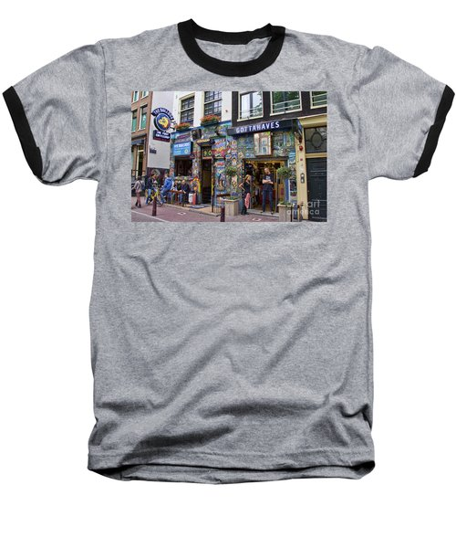 The Bulldog Coffee Shop - Amsterdam Baseball T-Shirt