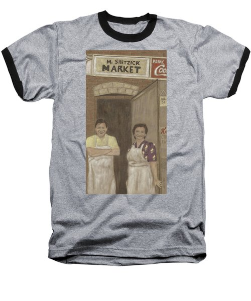 The Butcher And His Wife  Baseball T-Shirt by Arlene Crafton
