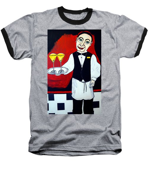 Baseball T-Shirt featuring the painting The Butler  by Nora Shepley