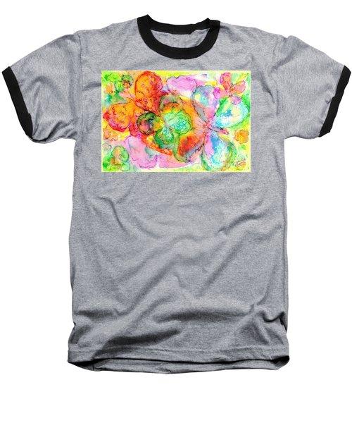 The Butterfly Dance Baseball T-Shirt by Hazel Holland