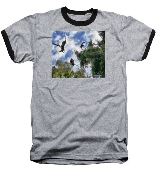 Baseball T-Shirt featuring the digital art The Buzzard Tree by Rhonda Strickland