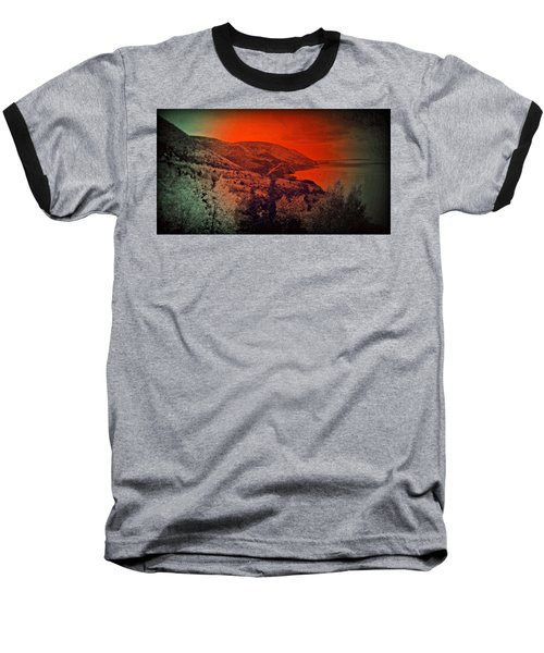 Baseball T-Shirt featuring the digital art The Cabot Trail by Jason Lees