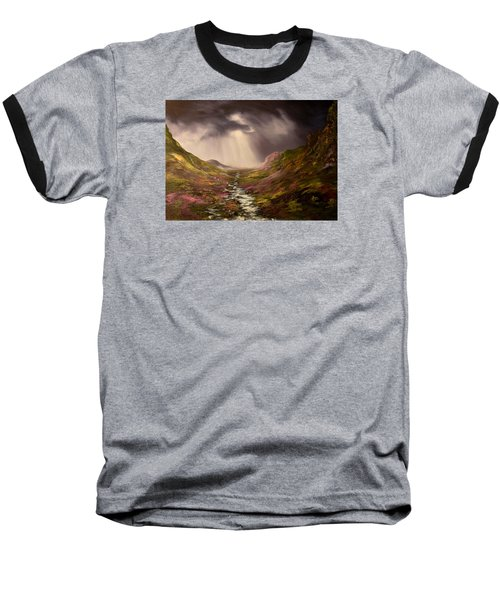 Baseball T-Shirt featuring the painting The Cairngorms In Scotland by Jean Walker