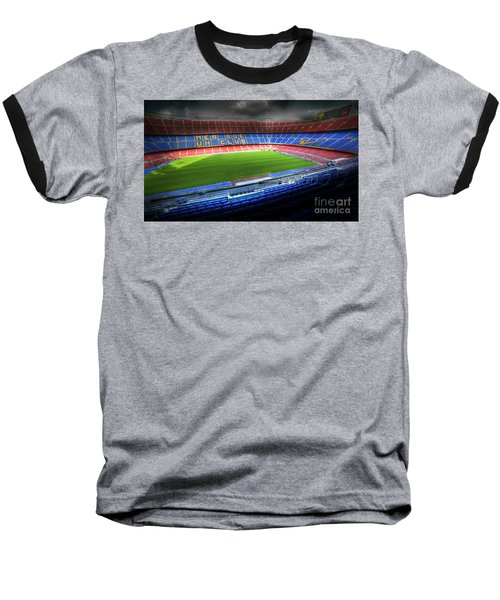 The Camp Nou Stadium In Barcelona Baseball T-Shirt