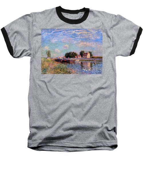 The Canal At Saint-mammes Baseball T-Shirt by Alfred Sisley