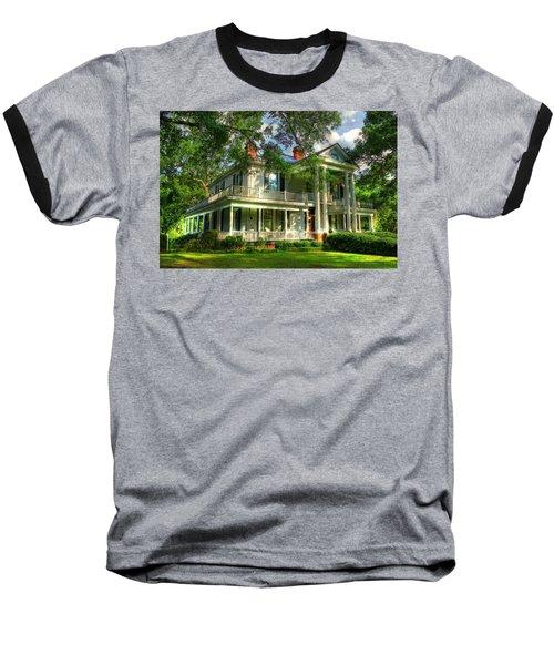 A Southern Bell The Carlton Home Art Southern Antebellum Art Baseball T-Shirt by Reid Callaway