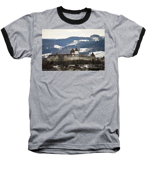 The Castle In Winter Look Baseball T-Shirt