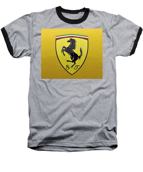 The Cavallino Rampante Symbol Of Ferrari Baseball T-Shirt