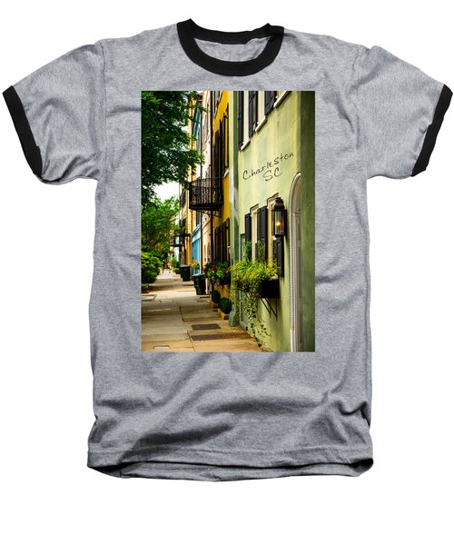 The Charm Of Charleston Baseball T-Shirt by Karol Livote
