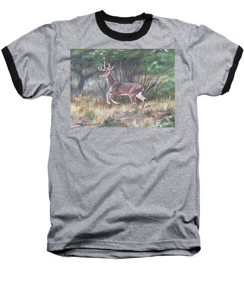 The Chase Is On Baseball T-Shirt by Lori Brackett
