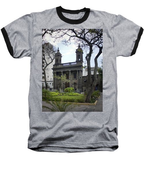 Baseball T-Shirt featuring the photograph The Church Green by Lynn Palmer