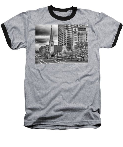 Baseball T-Shirt featuring the photograph The Church by Howard Salmon