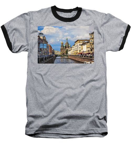 The Church Of Our Savior On Spilled Blood - St. Petersburg - Russia Baseball T-Shirt by Madeline Ellis