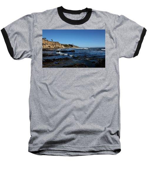 The Cliffs Of Pismo Beach Baseball T-Shirt by Judy Vincent