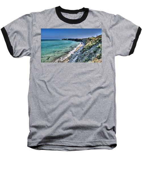 The Cliffs Of Pointe Du Hoc Baseball T-Shirt