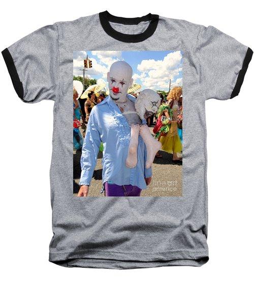 Baseball T-Shirt featuring the photograph The Clown by Ed Weidman