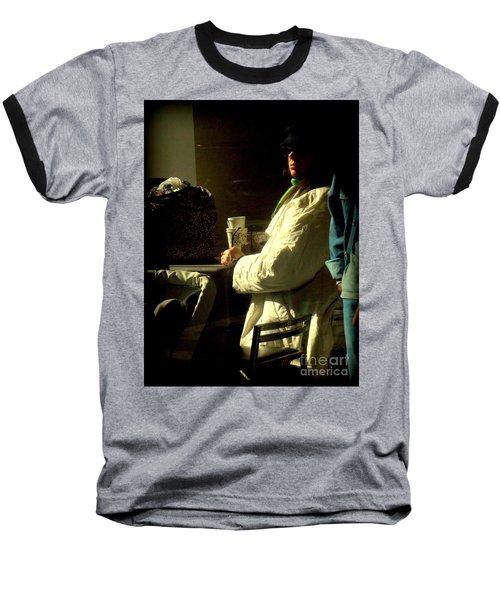 The Coffee Drinker Baseball T-Shirt by Miriam Danar
