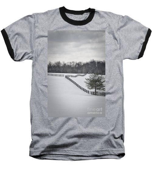 The Color Of Winter - Bw Baseball T-Shirt by Mary Carol Story
