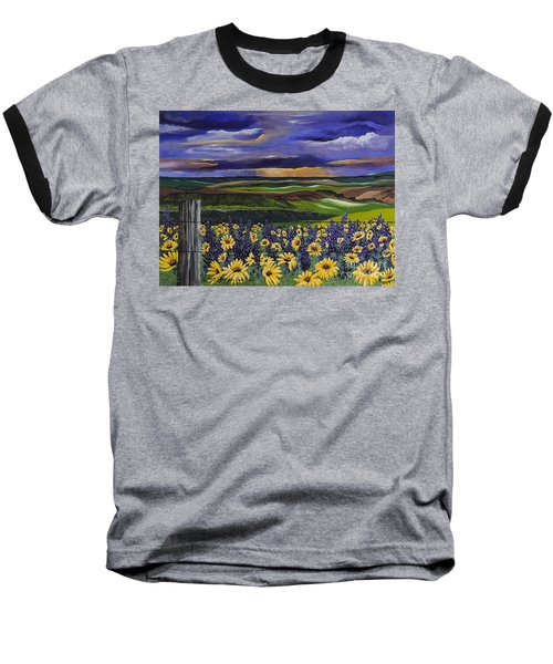 Baseball T-Shirt featuring the painting The Colors Of The Plateau by Jennifer Lake