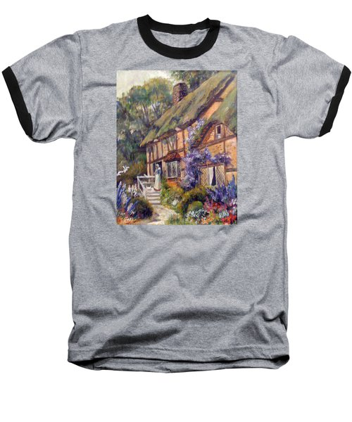Baseball T-Shirt featuring the painting The Cottage by Donna Tucker