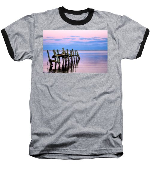 Baseball T-Shirt featuring the photograph The Cove Dock by Brian Hughes