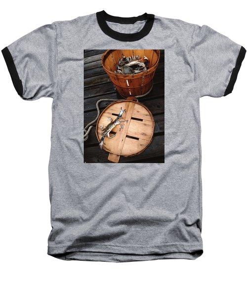 The Cranky Crab Baseball T-Shirt by Skip Willits