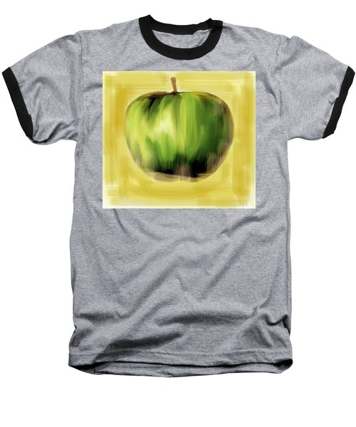 Baseball T-Shirt featuring the painting The Creative Apple by Iconic Images Art Gallery David Pucciarelli