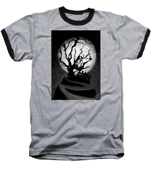 The Crooked Tree Baseball T-Shirt by Salman Ravish