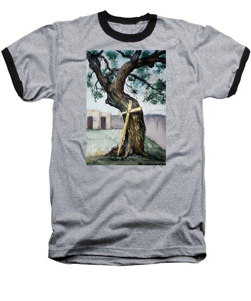 Da216 The Cross And The Tree By Daniel Adams Baseball T-Shirt
