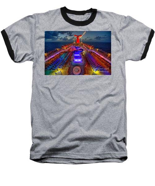 The Cruise Lights At Night Baseball T-Shirt