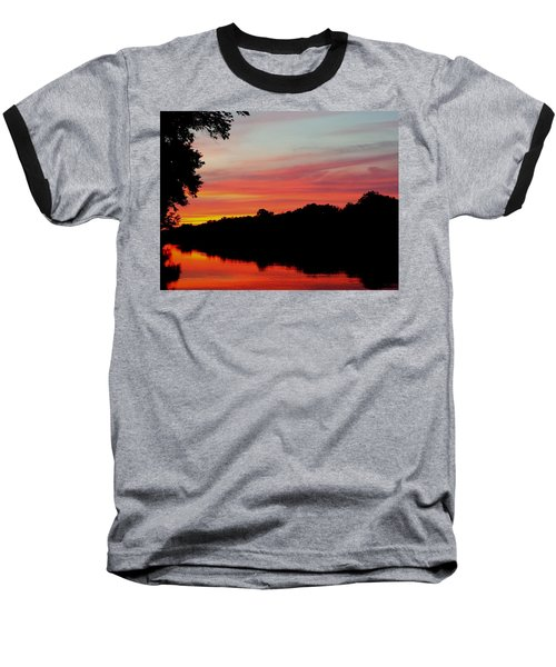 Baseball T-Shirt featuring the photograph The Cumberland At Sunset by Chris Tarpening