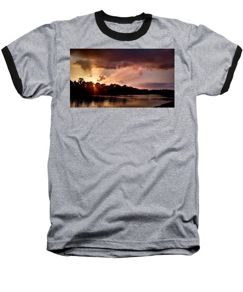 Baseball T-Shirt featuring the photograph The Cumberland River by Chris Tarpening