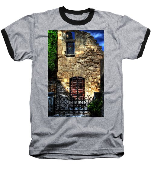 Baseball T-Shirt featuring the photograph The Cypress And The Bell France by Tom Prendergast