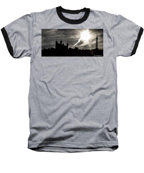 Baseball T-Shirt featuring the photograph The Dark Towers by Stwayne Keubrick