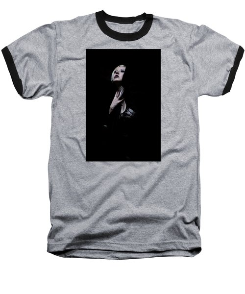 Baseball T-Shirt featuring the photograph The Dark Witch by Mez