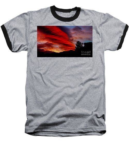 The Day Is Done Baseball T-Shirt by Angela J Wright