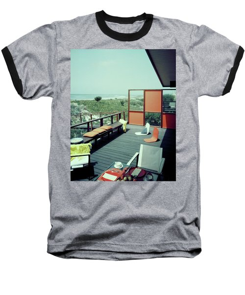 The Deck Of A Beach House Baseball T-Shirt