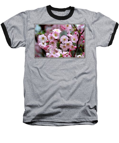The Delicate Cherry Blossoms Baseball T-Shirt by Patti Whitten