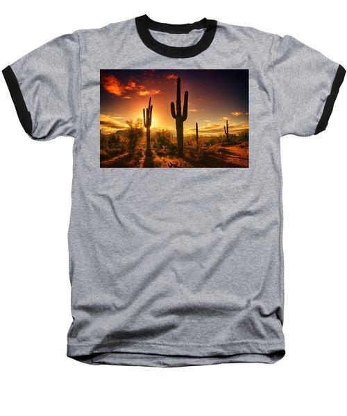 The Desert Awakens  Baseball T-Shirt by Saija  Lehtonen
